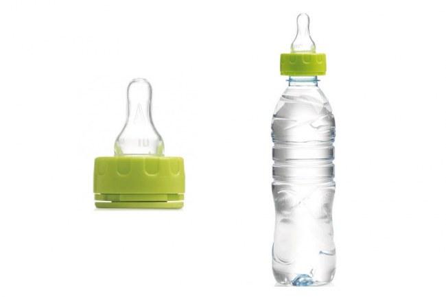 mamila que se enrosca en botellas de plástico