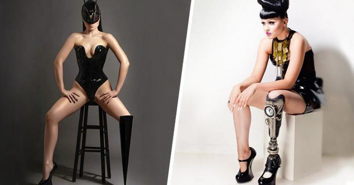 La primera estrella del pop y modelo amputada exhibe su prótesis de pierna en un video musical