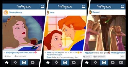 ¿Qué pasaría si las PRINCESAS de Disney tuvieran cuentas de Instagram?