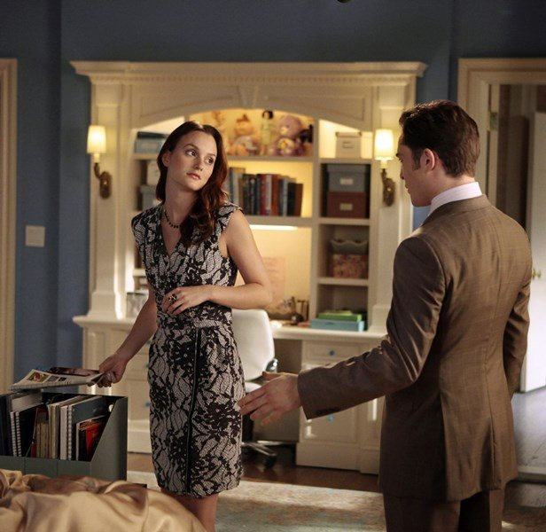 Escena de la serie Gossip Girls blair and chuck peleando