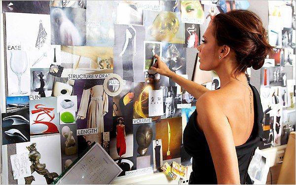Victoria Beckham diseñando