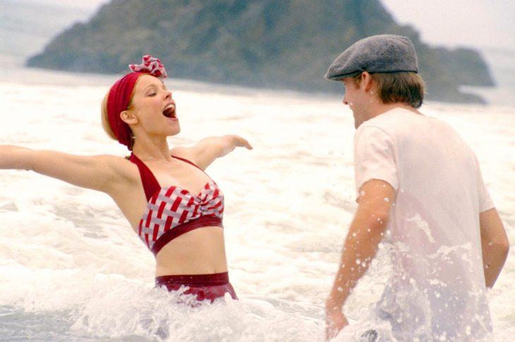 Escena en la playa de la película Diario de una pasión