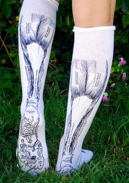 calcetines que parece que son musculos