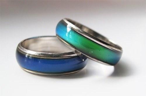 anillos de colores que cambian según tu estado de ánimo