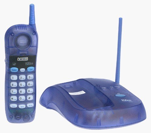 teléfono de casa de color azul