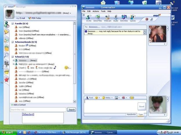 sesión de MSN Messenger