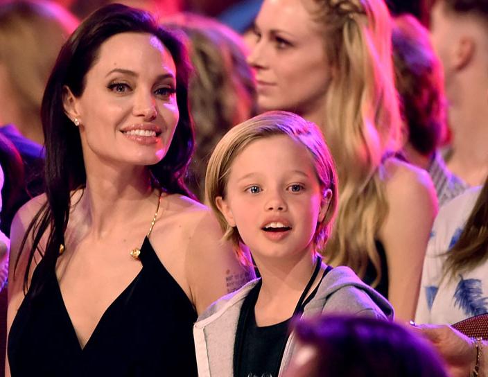 Angelina Jolie y Shiloh Jolie-Pitt en un evento para la televisión en Estados Unidos