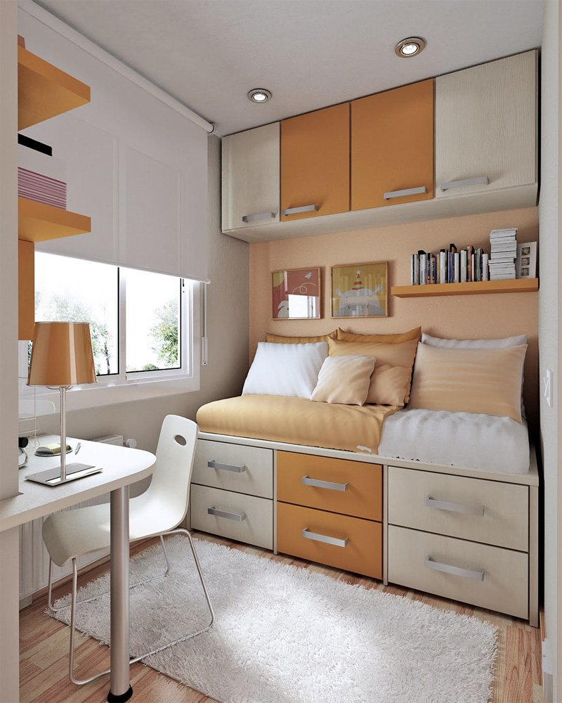 20 incre bles ideas para ahorrar espacio en una habitaci n On ideas para ahorrar espacio en habitaciones