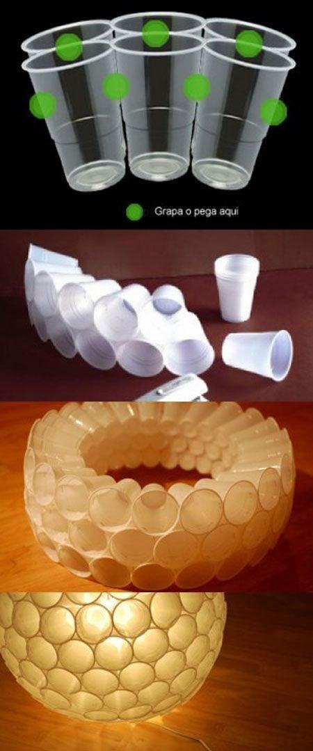 pantalla de vasos de plstico