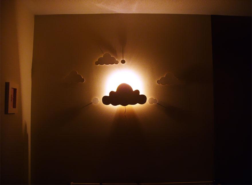 21 creativas y originales l mparas que puedes hacer t misma - Lamparas para dormitorios infantiles ...