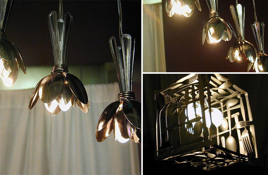 21 creativas y originales l mparas que puedes hacer t misma - Como hacer lamparas de techo artesanales ...