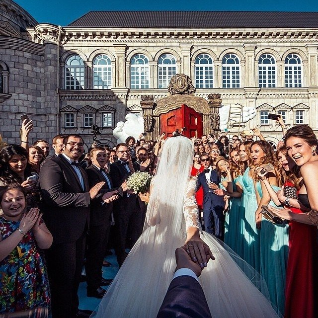pareja más famosa de instagram el día de su boda en moscú