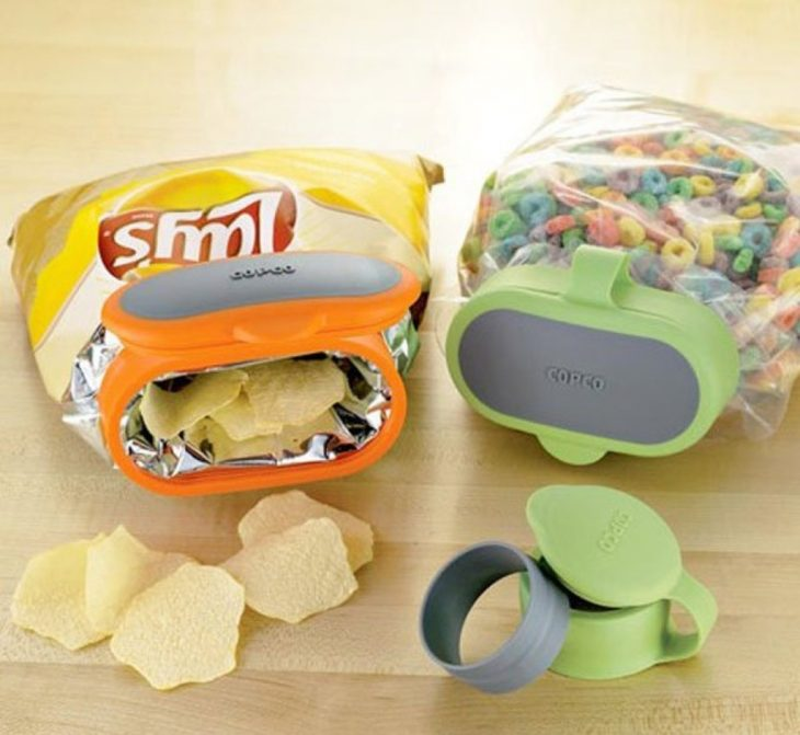 Tapas para mantener fresca la comida en las bolsas de plástico