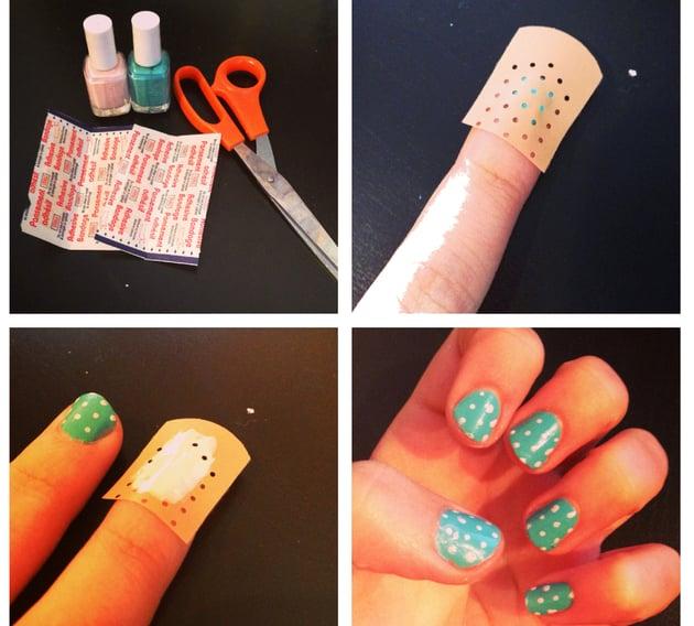 bandas para cubrir heridas y realizar diseños para las uñas