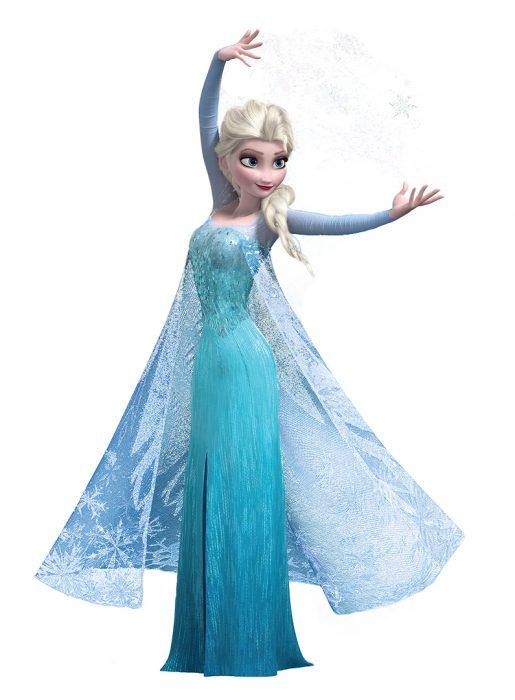 Elsa de la película de Frozen
