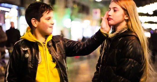 ¿Que hace un niño si le piden ABOFETEAR a una chica? Su reacción te sorprenderá
