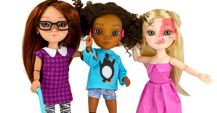 Esta es la primera línea en el mundo de muñecas con DISCAPACIDADES ¡Son increíbles!
