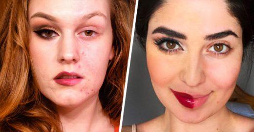Mujeres suben a redes sociales fotos de su rostro a medio MAQUILLAR ¡Descubre por qué!