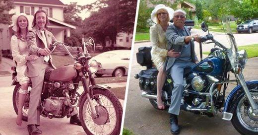 Pareja RECREA de forma adorable sus fotos de BODA 40 años después ¡El amor eterno sí existe!