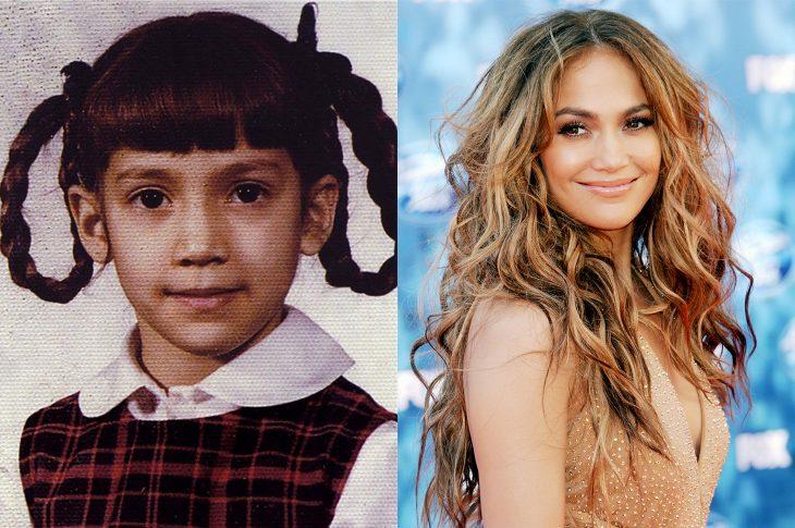 El antes y el después de Jennifer López