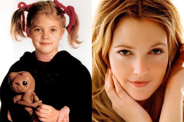 El antes y el después de Drew Barrymore