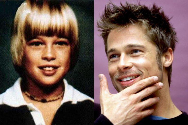 El antes y el después de Brad Pit