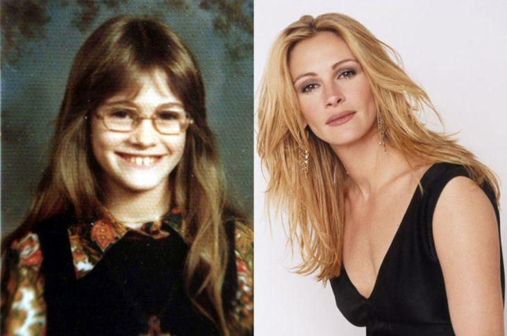 El antes y el después de Julia Roberts