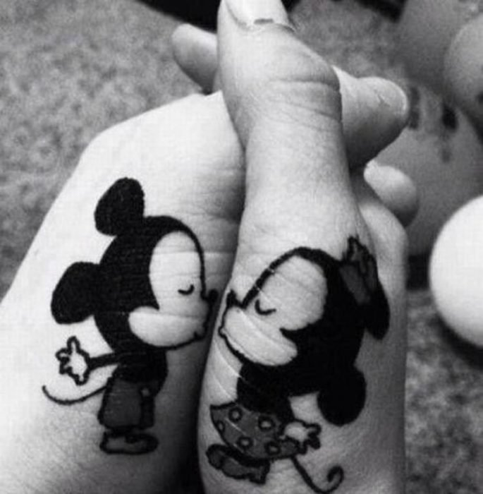 Tatuajes de Mickey y minnie mouse
