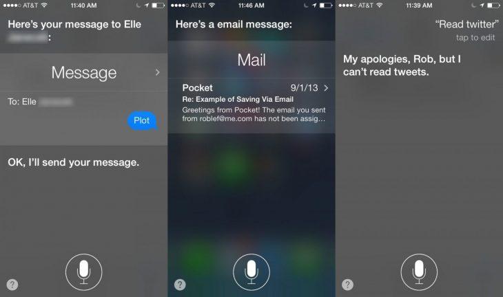 Siri lee correos