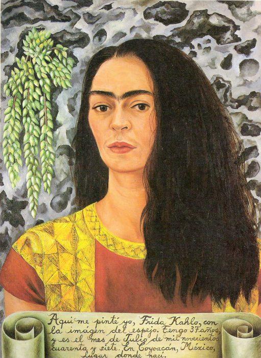 Autorretrato de Frida Kahlo con pelo suelto