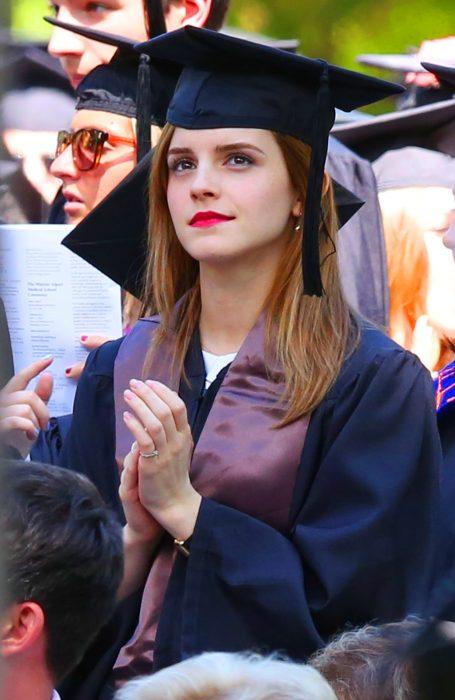 Emma Watson en su graduación