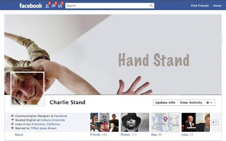 Portada de facebook cayendo
