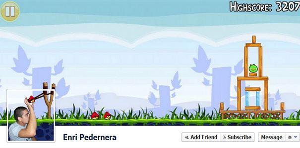 Portada de facebook de angry birds