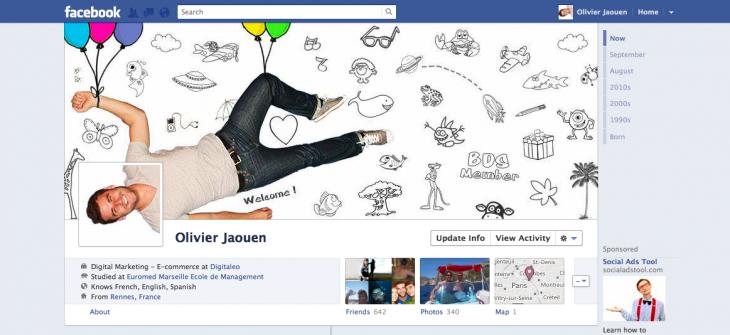 Portada de facebook volando con globos