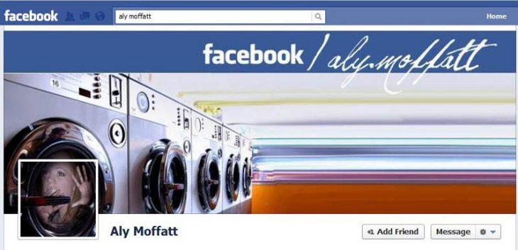 Portada de facebook dentro de una lavadora