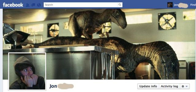 Portada de facebook de jurassic world