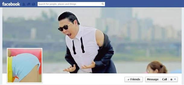 Portada de facebook de Gangnam Style