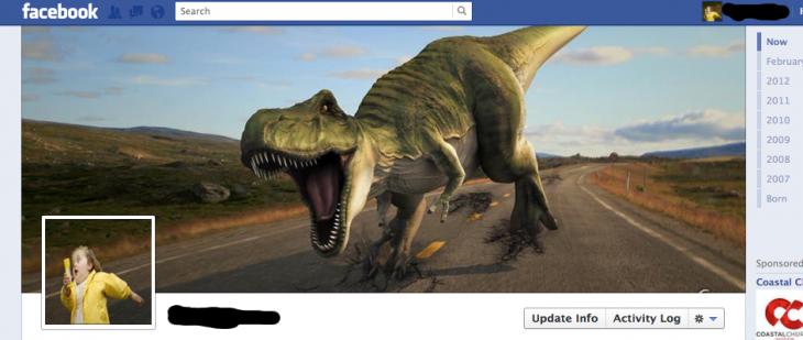 Portada de facebook de Jurassic Park