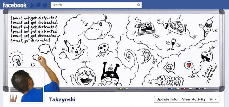 Portada de facebook dibujando