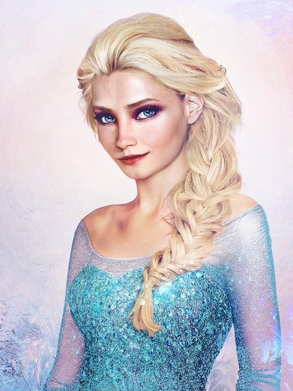 Elza de Frozen en la vida real