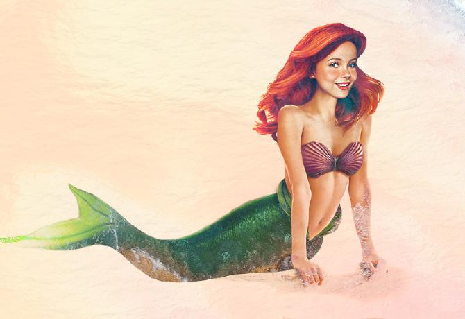 Ariel de la Sirenita en la vida real