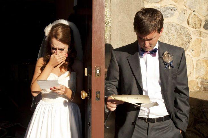 Novios llorando el día de su boda