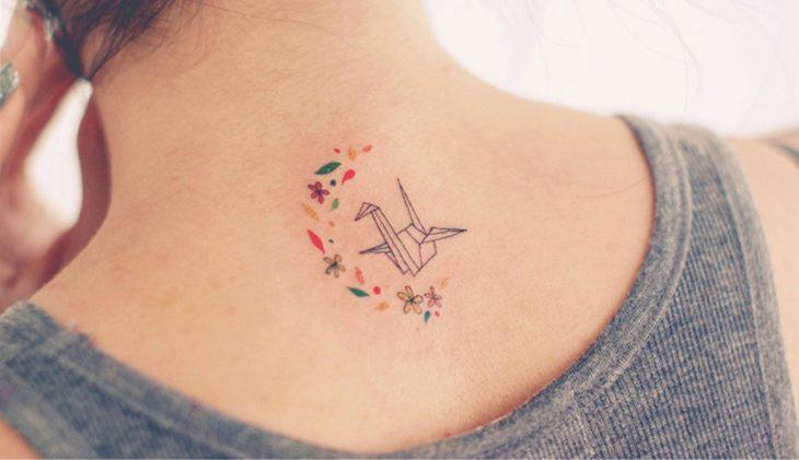 Tatuaje origami