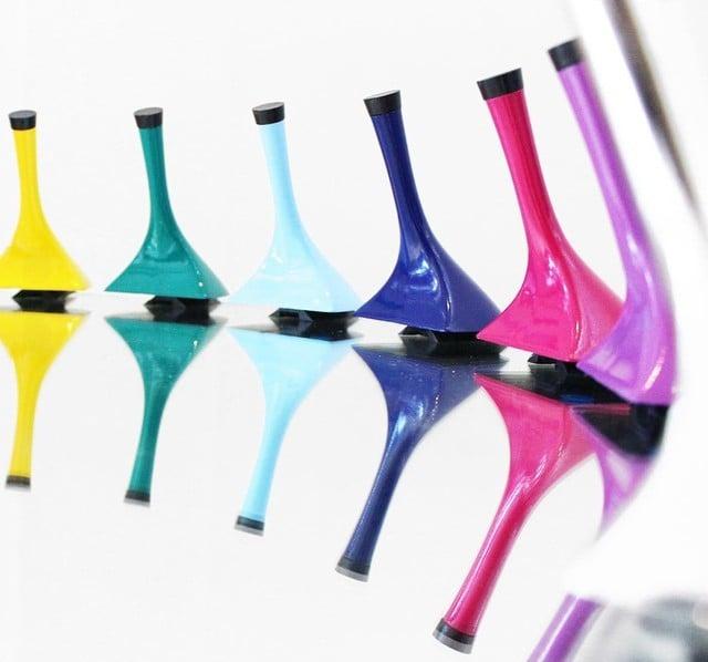 Tacones intercambiables de varios colores