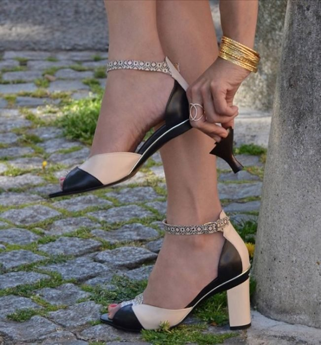 Zapatos con tacón intercambiable