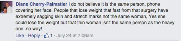 Comentarios dentro de una publicación de facebook
