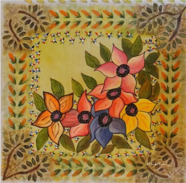 Pinto flores-Frida Kahlo