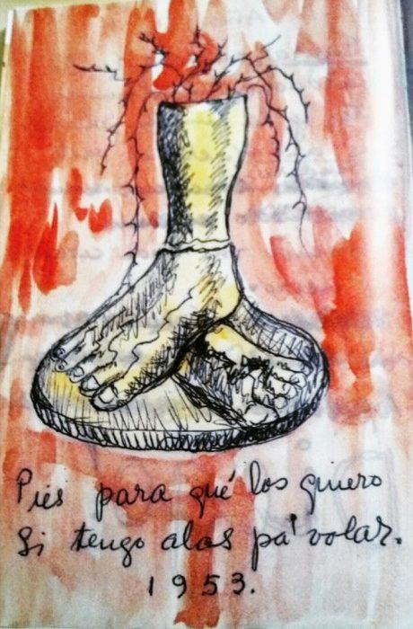 Pies para que los quiero-Frida Kahlo