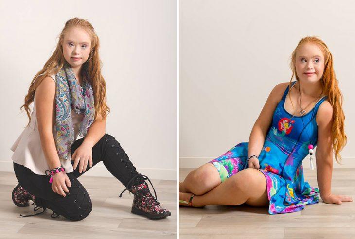 niña con síndrome de down se convierte en la nueva modelo de la marca de ropa manifesta