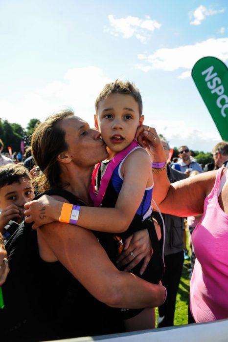 Bailey Matthews al finalizar el triatlón